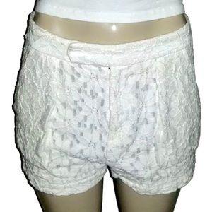 RACHEL ROY White Lace Shorts w Pockets 8 Medium